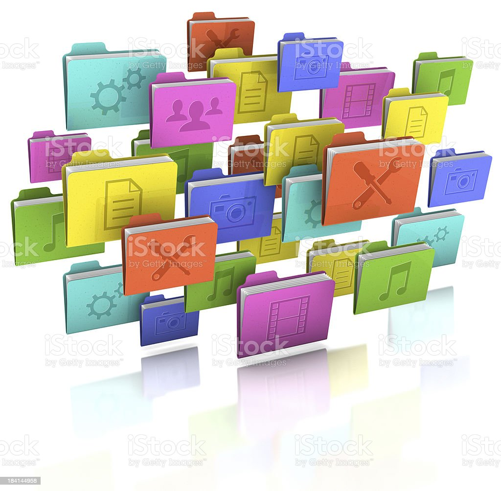File Cloud royalty-free stock photo