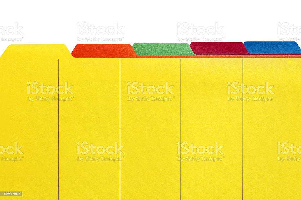 File Dividers royalty-free stock photo