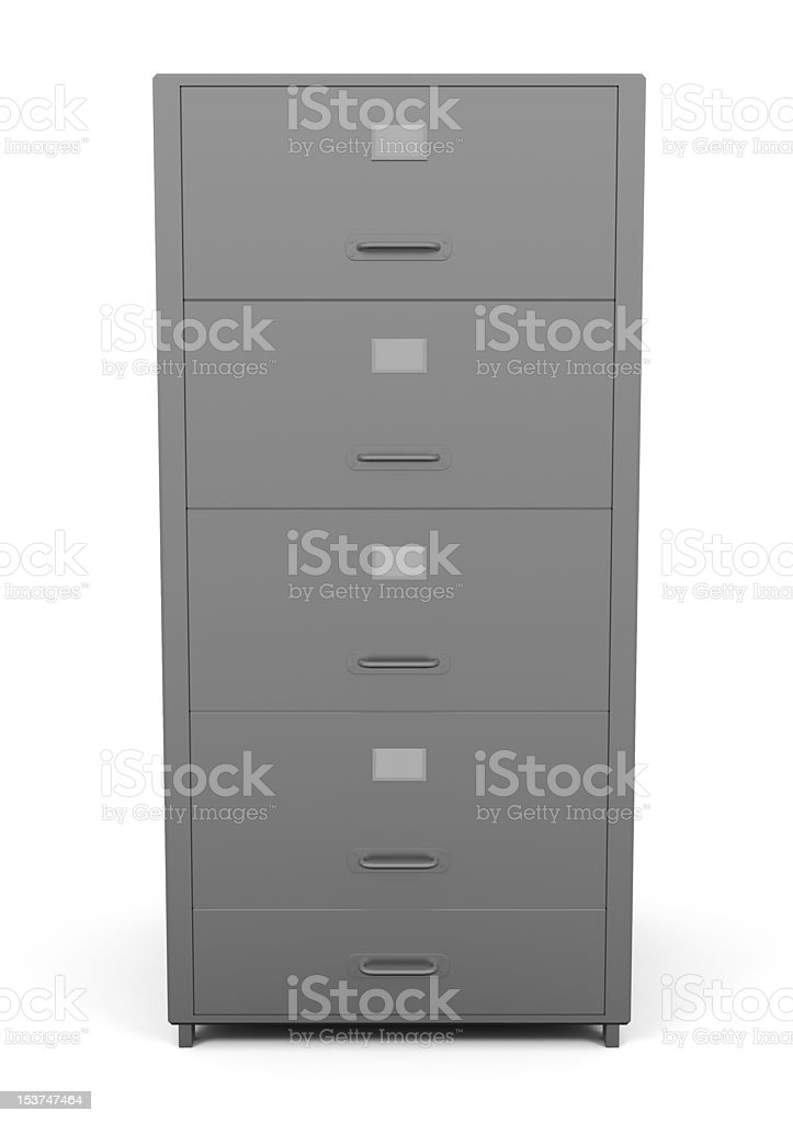 File Drawer isolated on white royalty-free stock photo