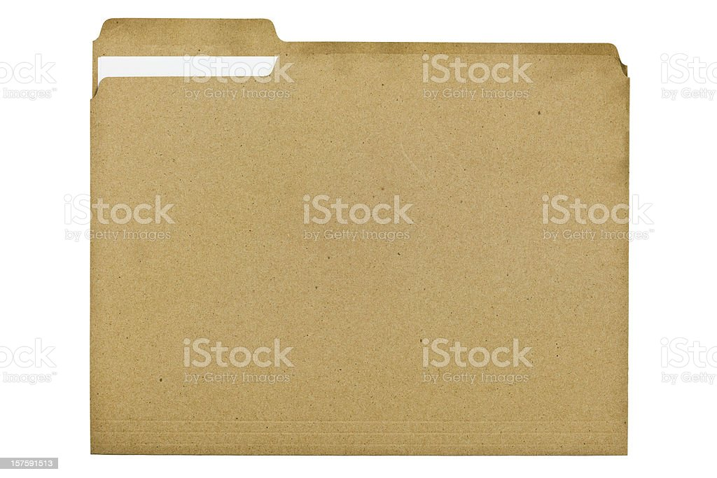 File Folder Made of 100 Percent Recycled Fiber With Document royalty-free stock photo