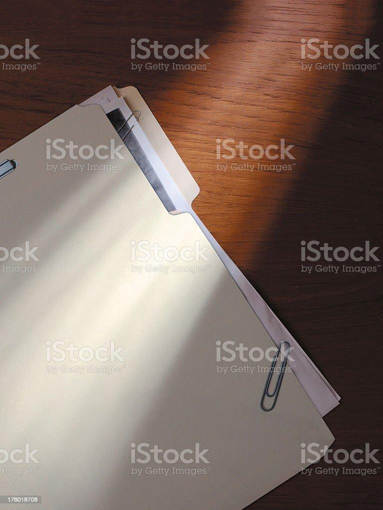 File Folder on a Desk stock photo