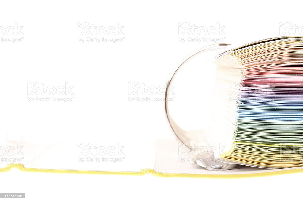 file folder with documents and papers royalty-free stock photo