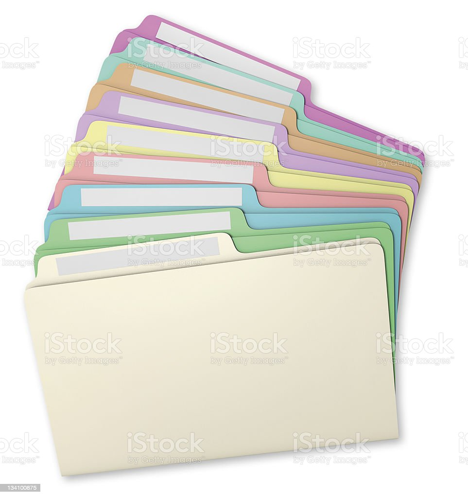 File Folders Fanned royalty-free stock photo