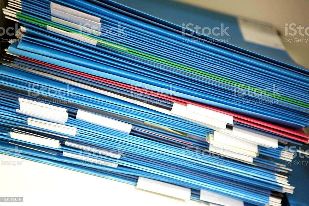 File folders in a cupboard royalty-free stock photo