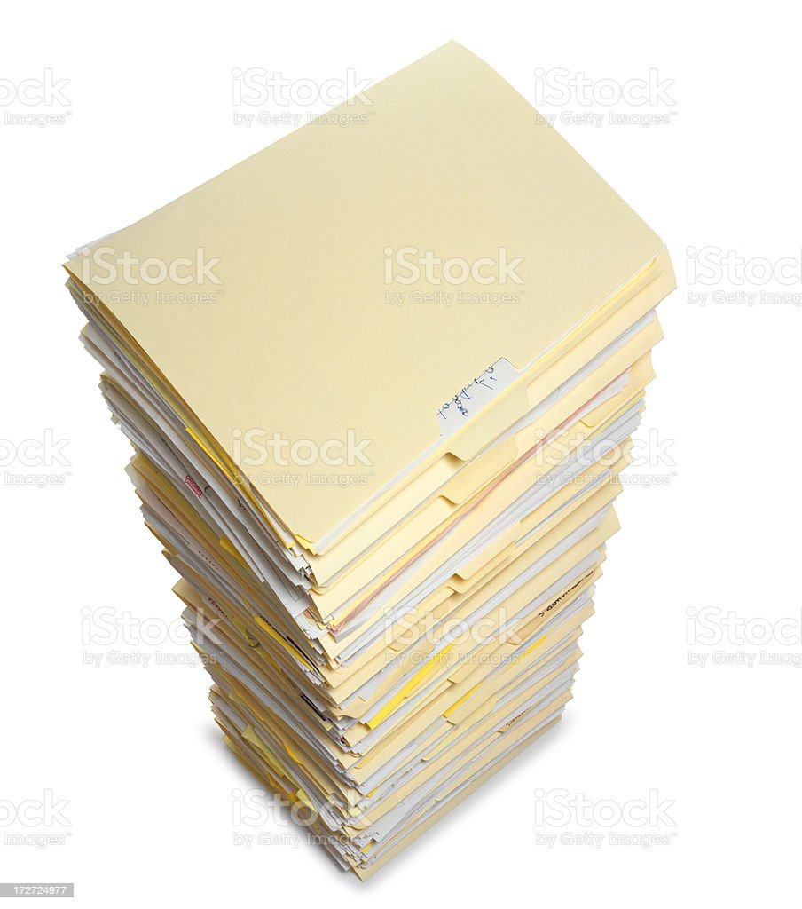 File Folders royalty-free stock photo