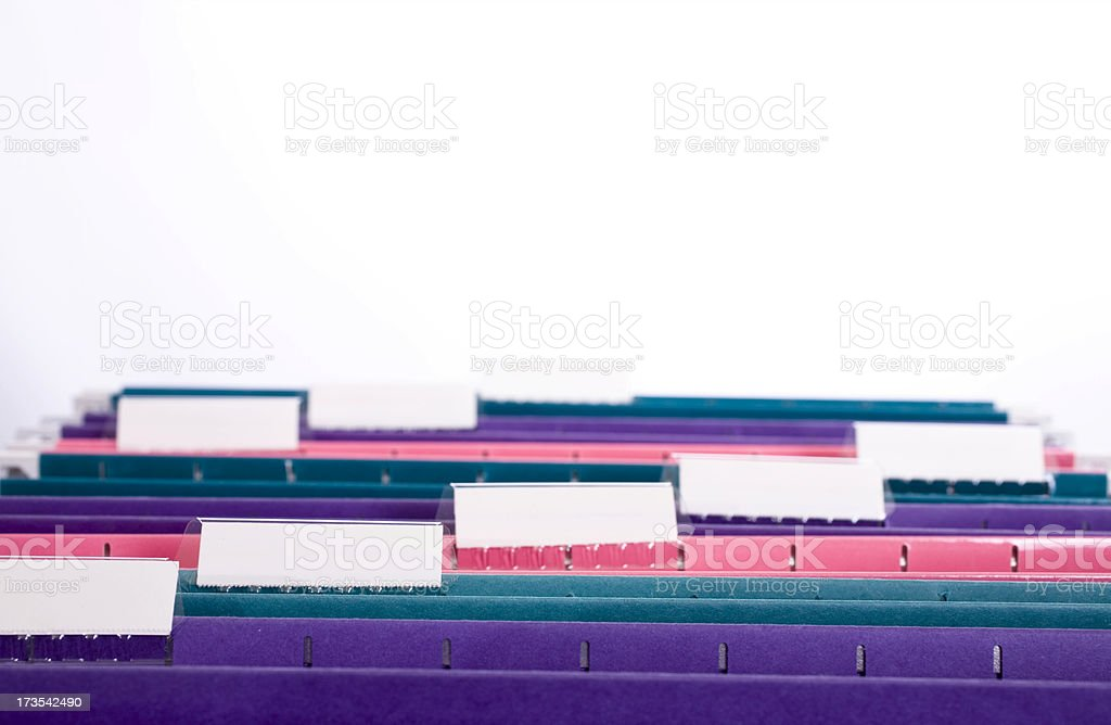 File folders royalty-free stock photo
