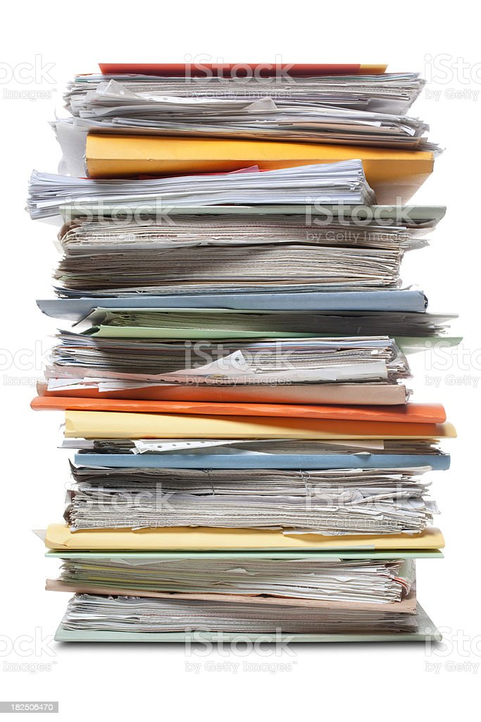 File folders. stock photo