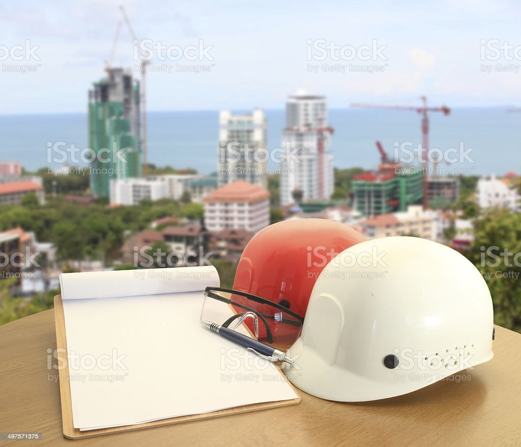 file of safety helmet stock photo