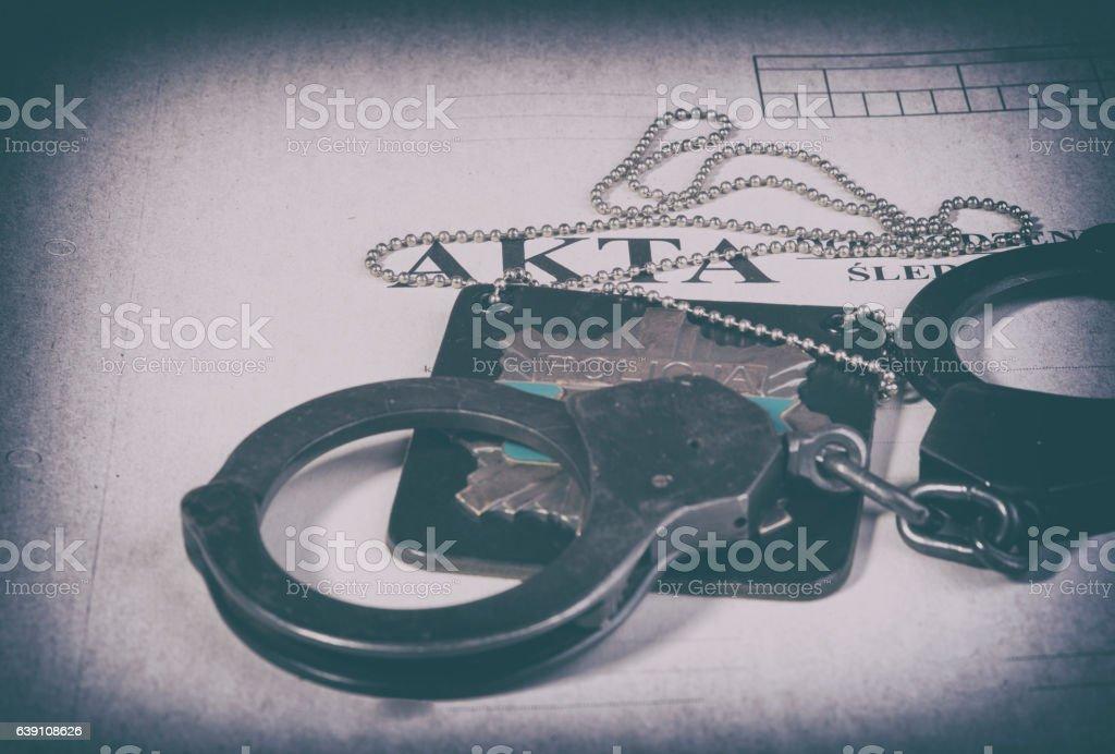 file police investigation stock photo