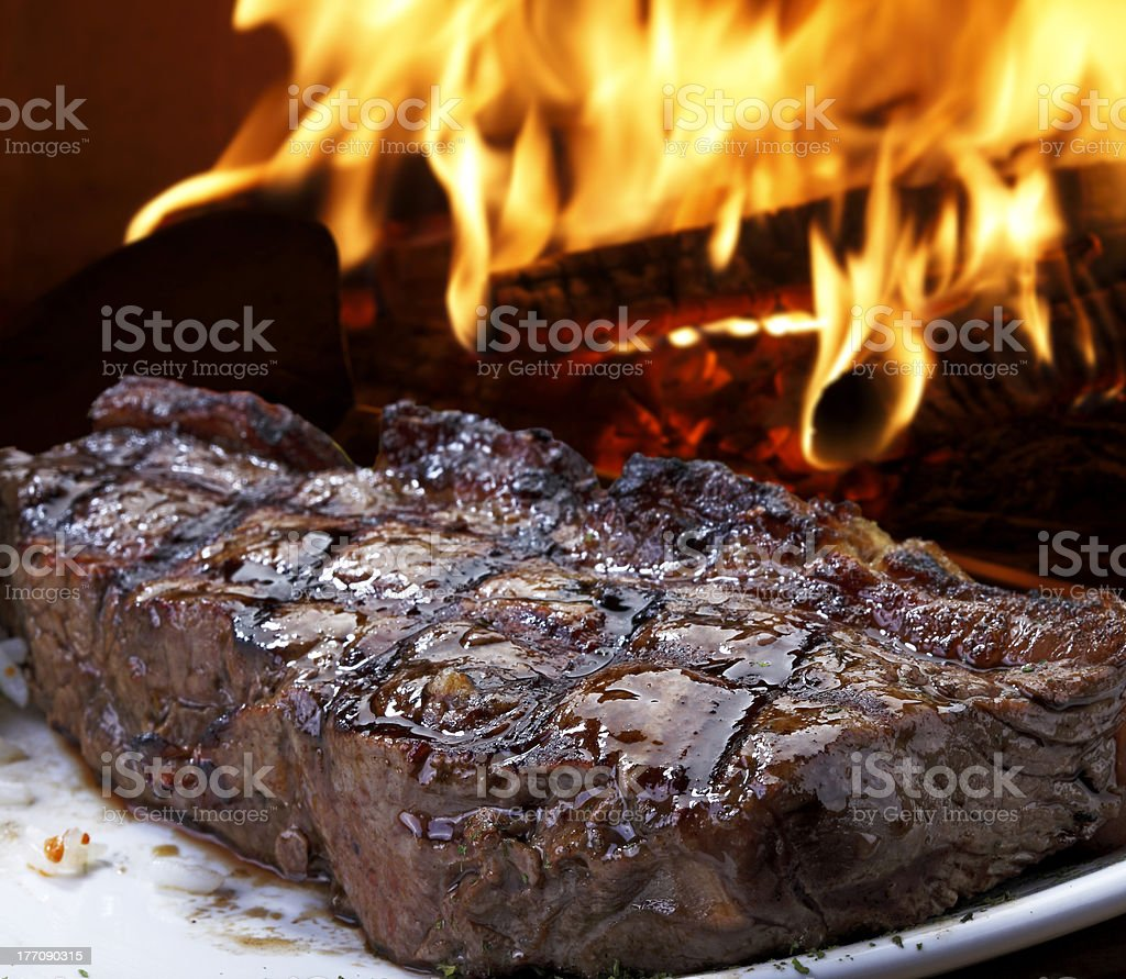 file roast on the grill stock photo