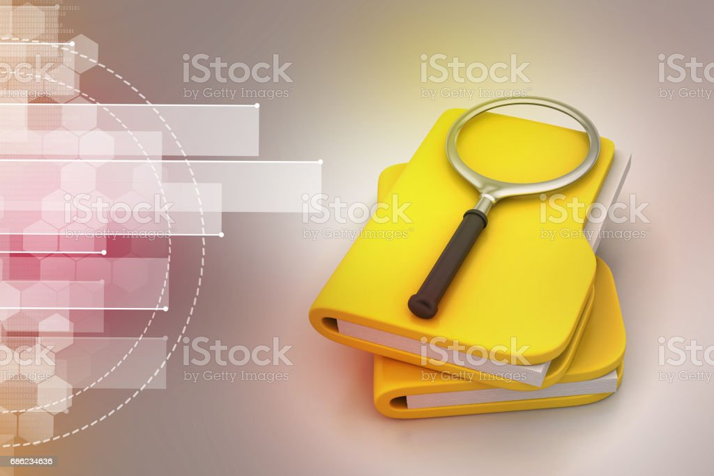 File searching stock photo