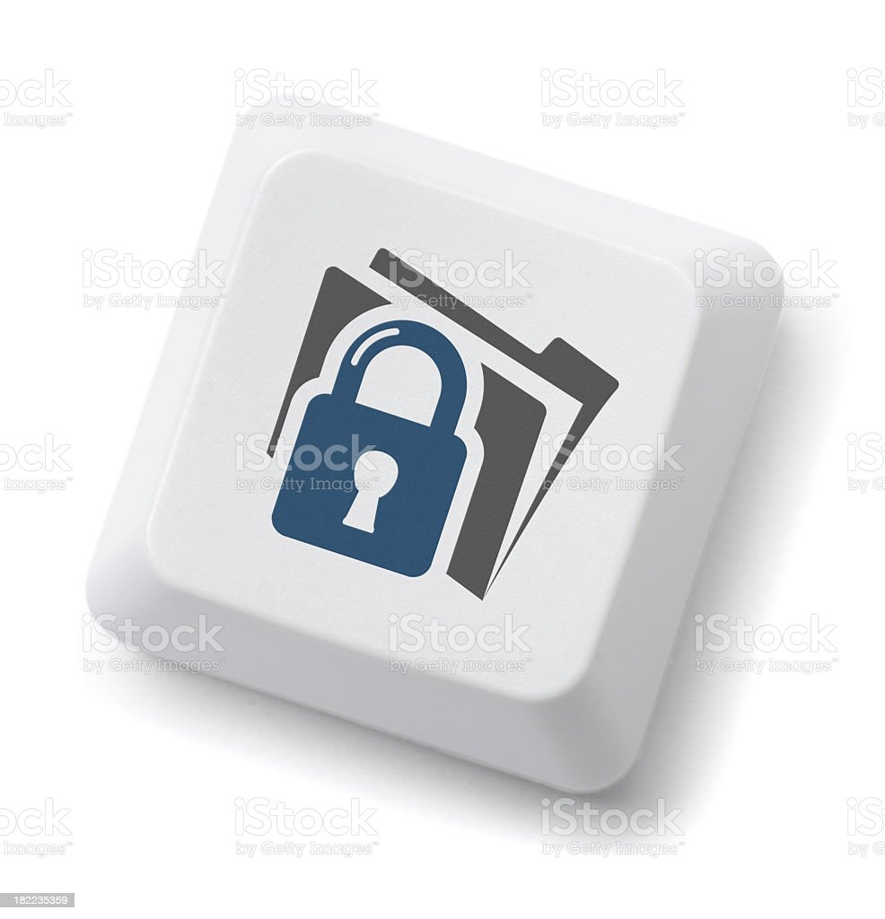 File Security Key royalty-free stock photo