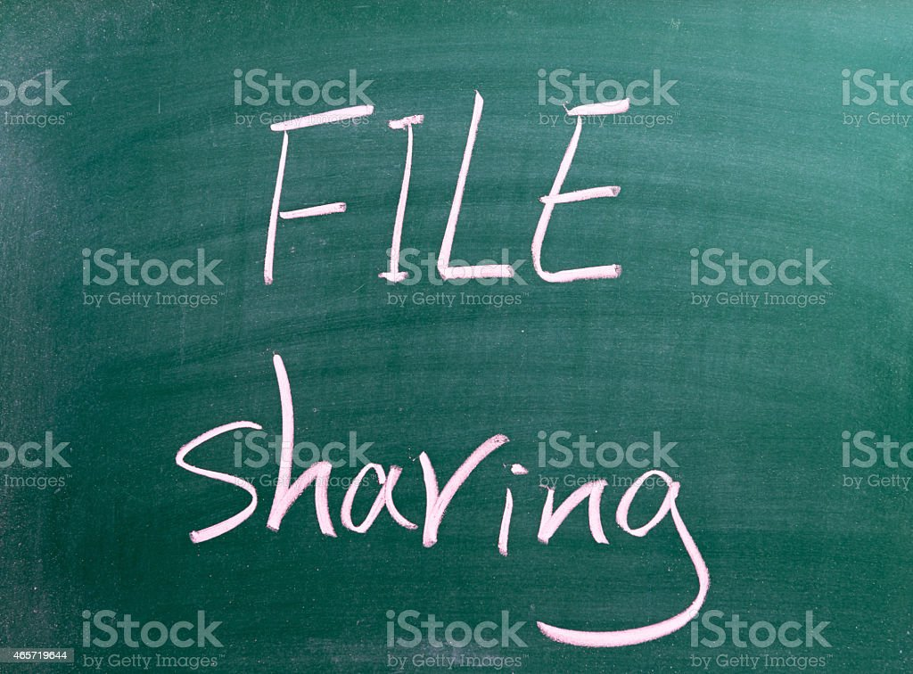 File Sharing - Business Concept stock photo