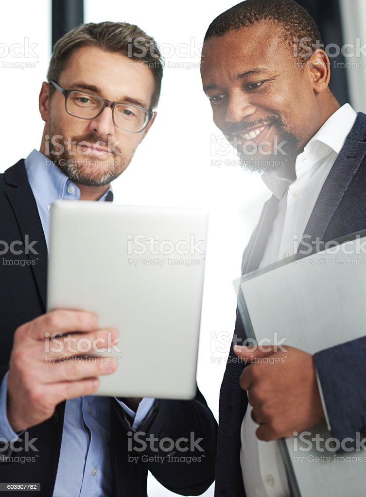 File sharing done in real time stock photo