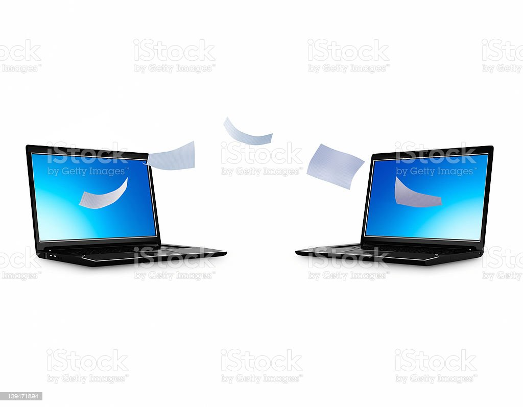 File sharing stock photo