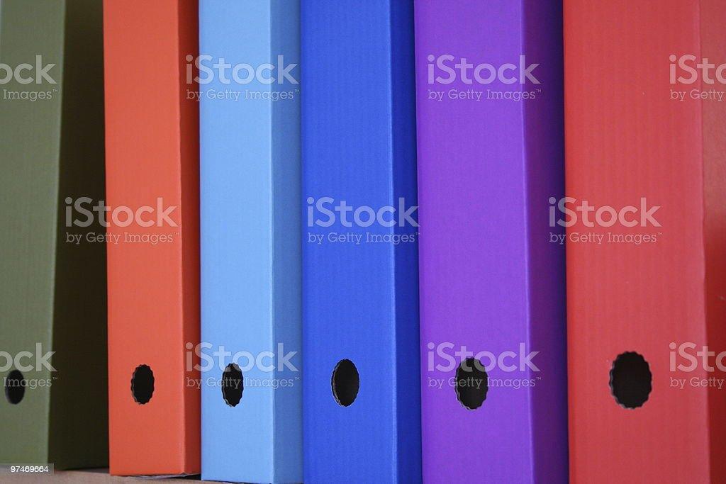 File Storage Boxes. royalty-free stock photo