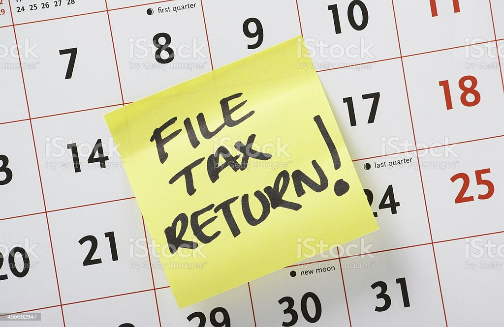 File Tax Return! stock photo