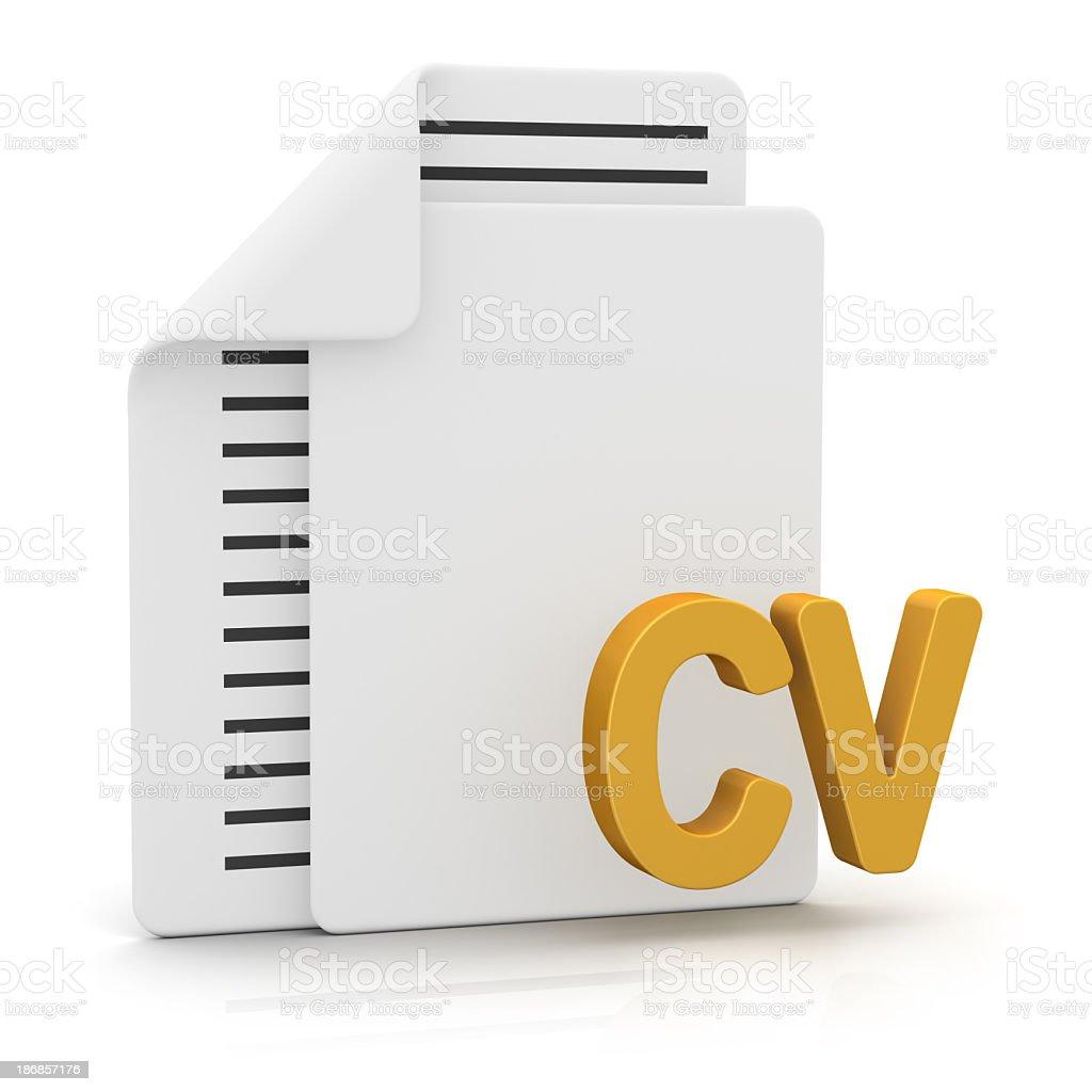 Files and CV royalty-free stock photo