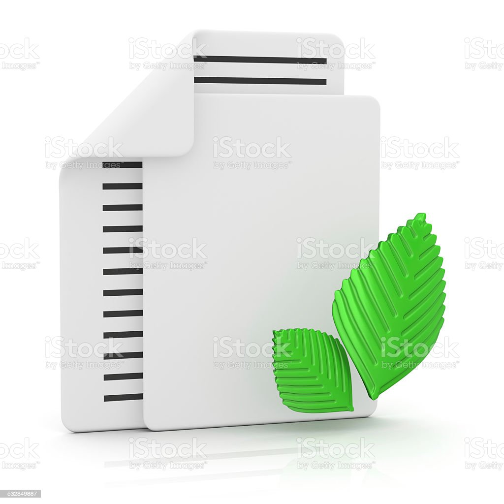 Files and Spring stock photo