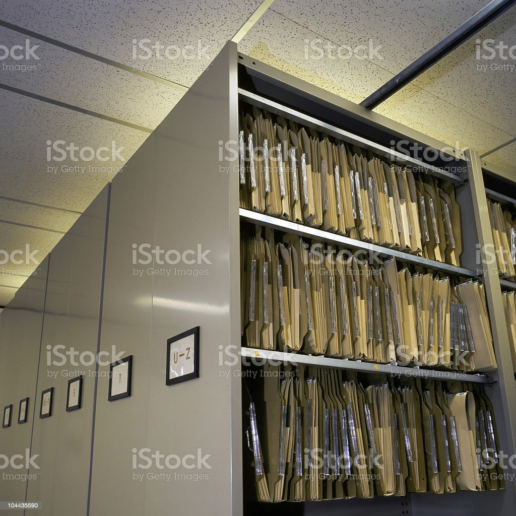 files & cabinets royalty-free stock photo