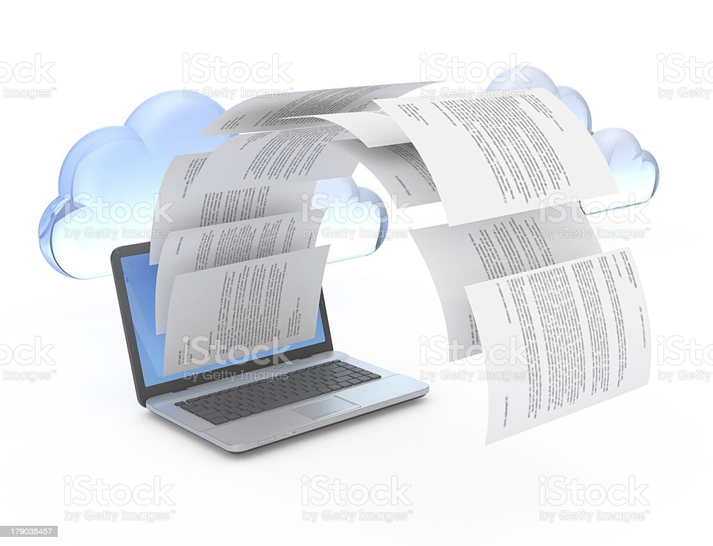 Files from laptop. royalty-free stock photo