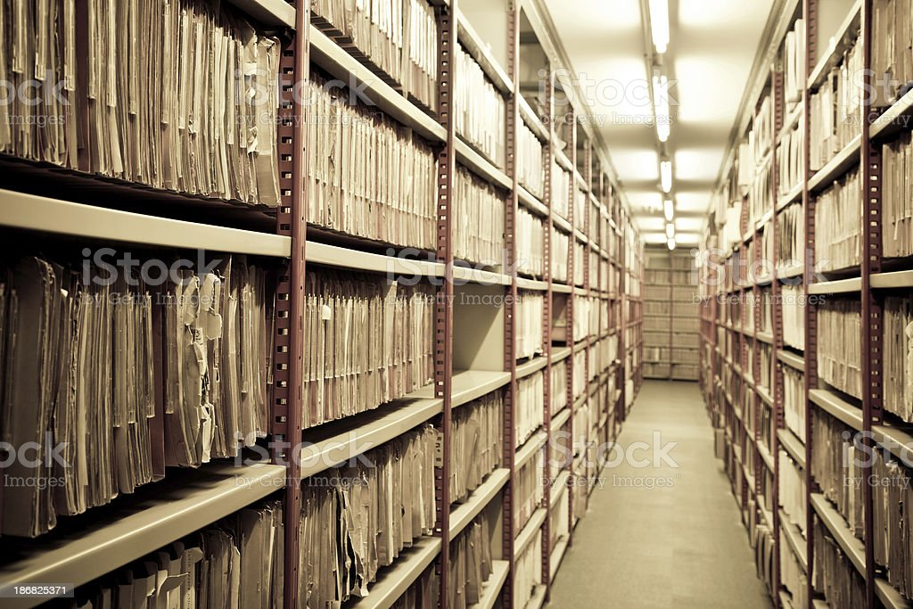 files in a archive stock photo