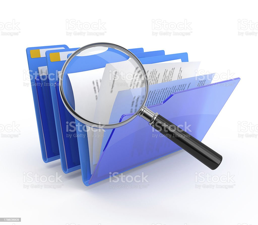 Files investigation. royalty-free stock photo