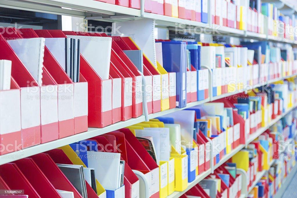 Files on Shelf royalty-free stock photo