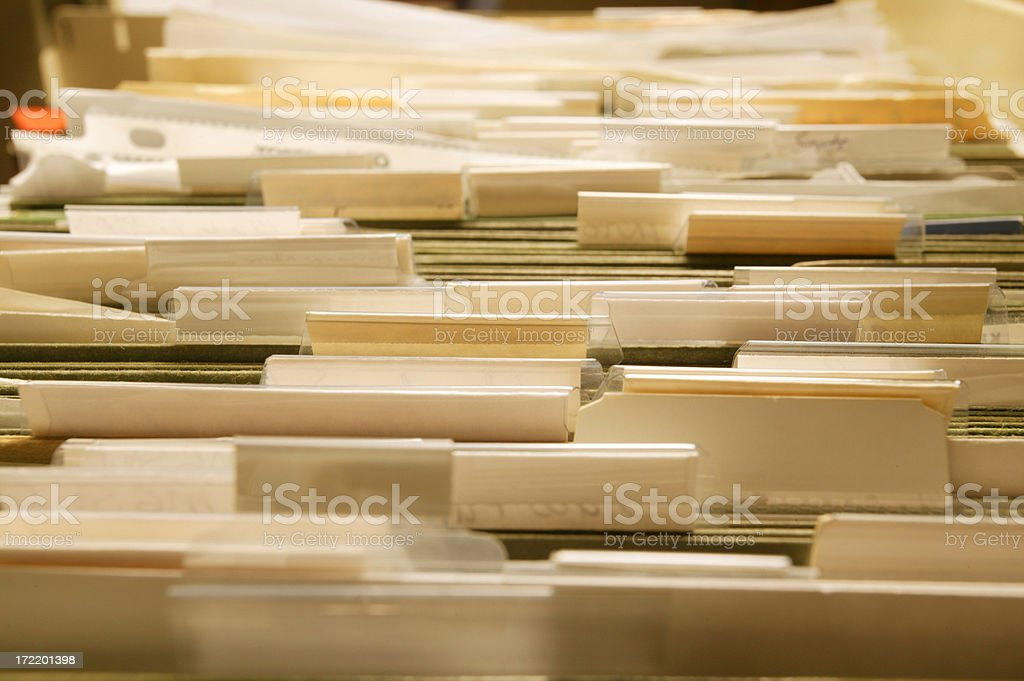 Files royalty-free stock photo