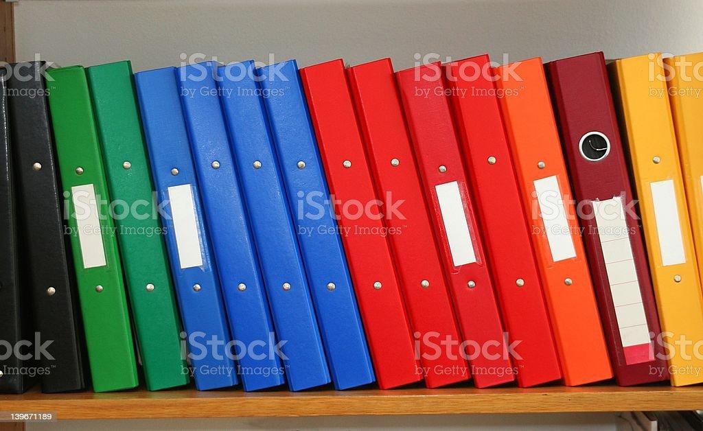 files shelf royalty-free stock photo