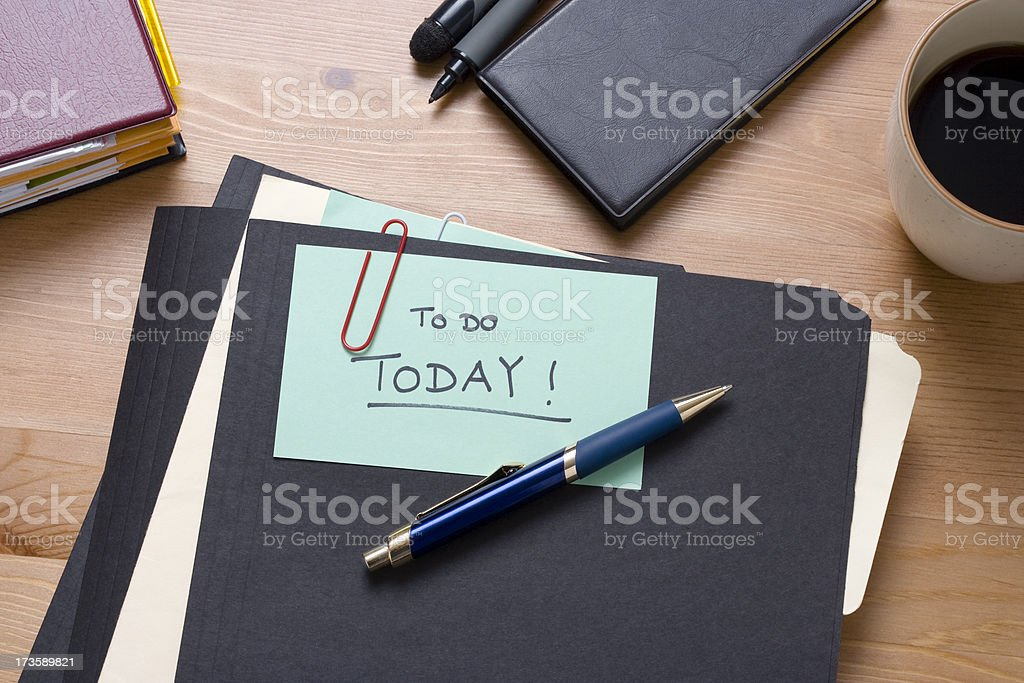 Files to work on today royalty-free stock photo