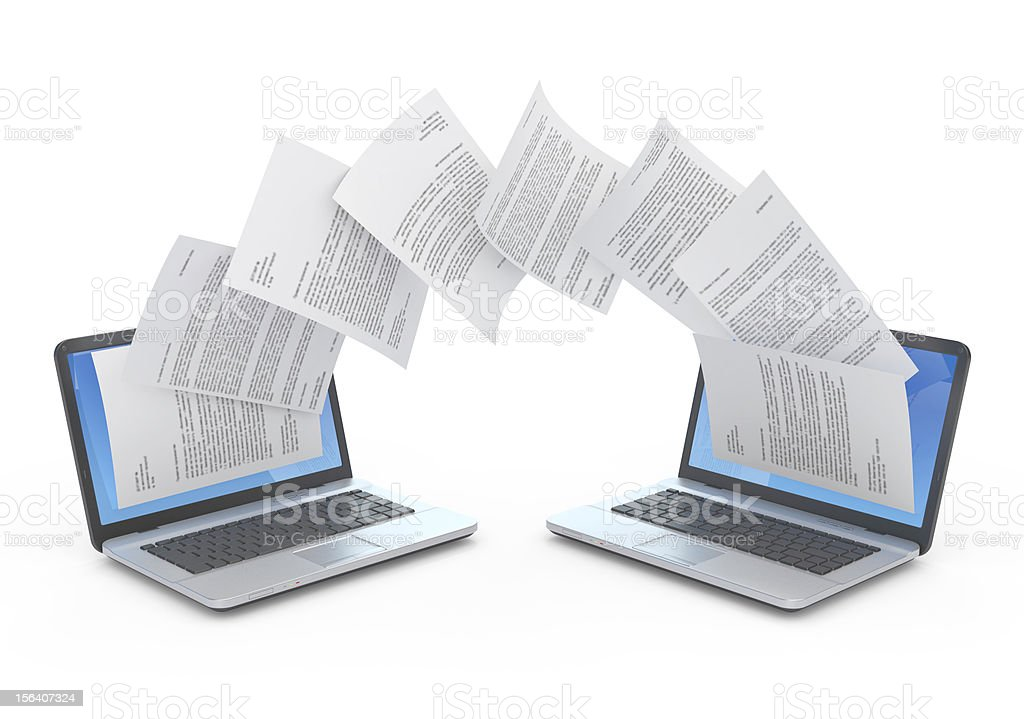 Files transfer. stock photo