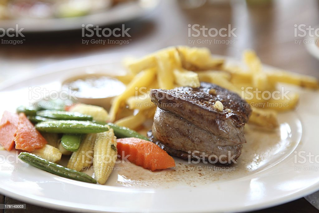 Filet mignon beef steak royalty-free stock photo