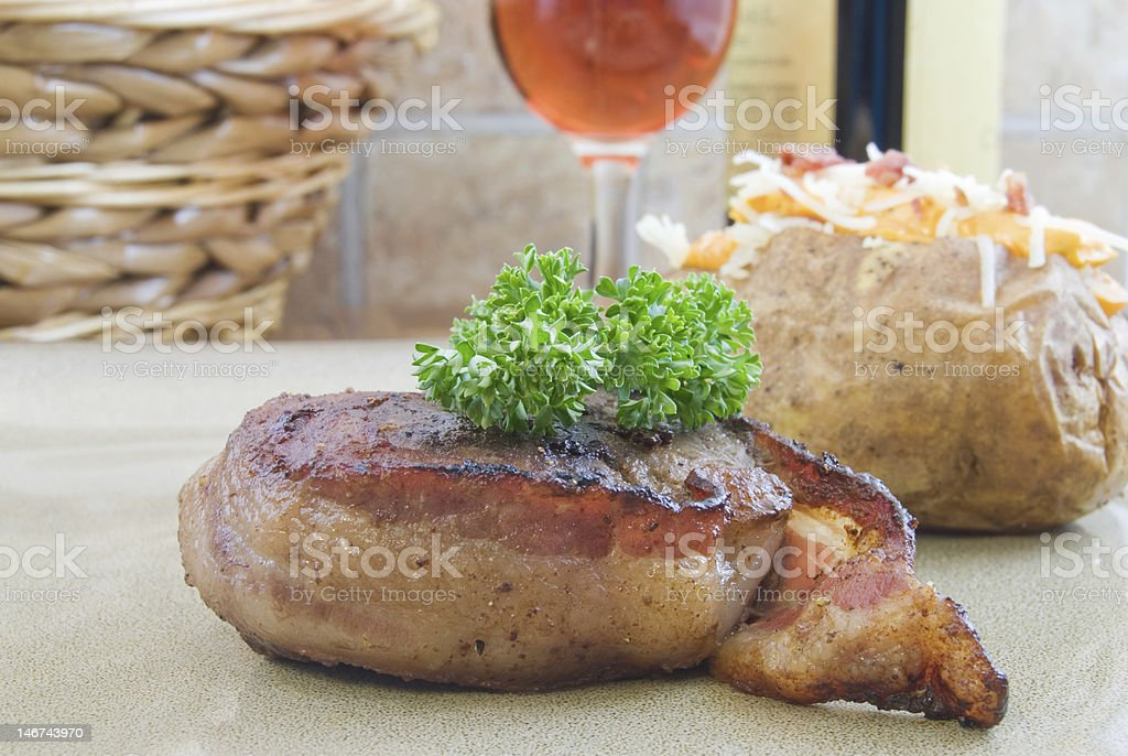 Filet Mignon Dinner royalty-free stock photo