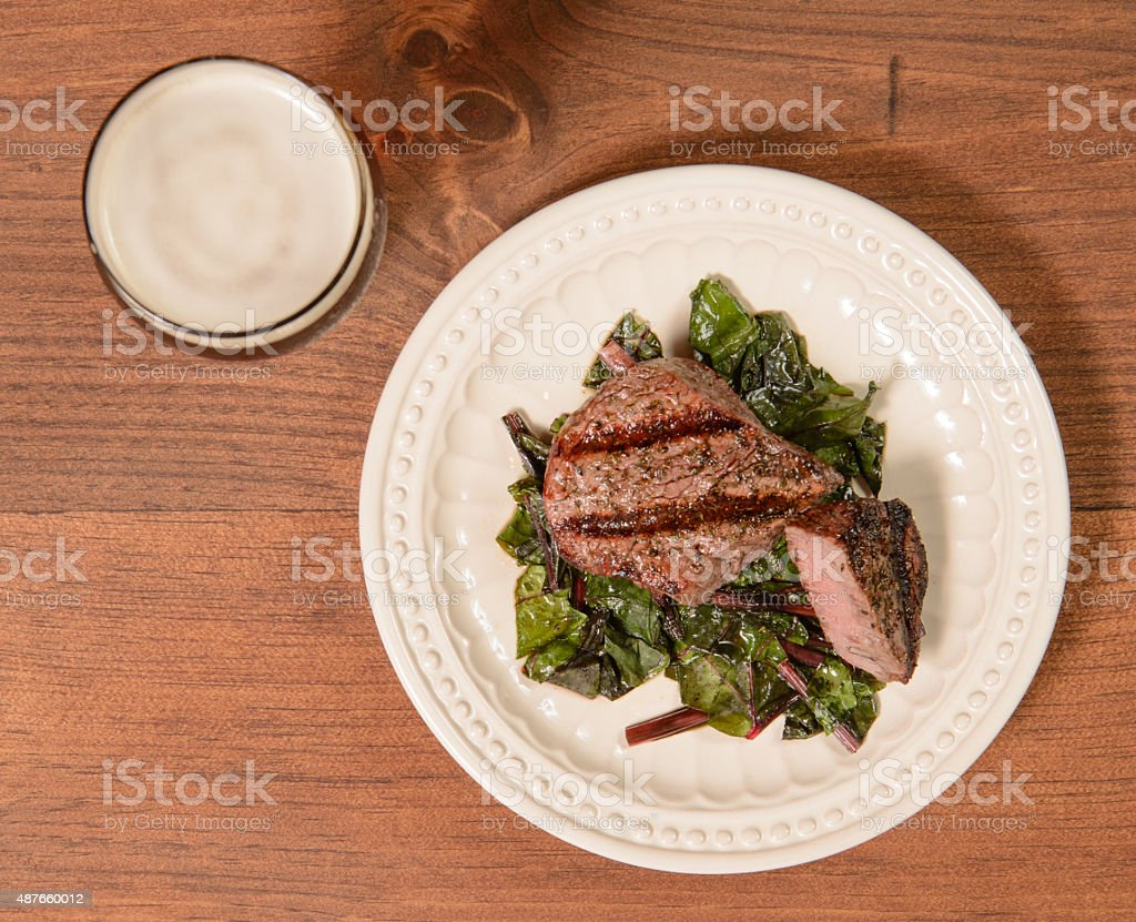 Filet mignon on plate stock photo
