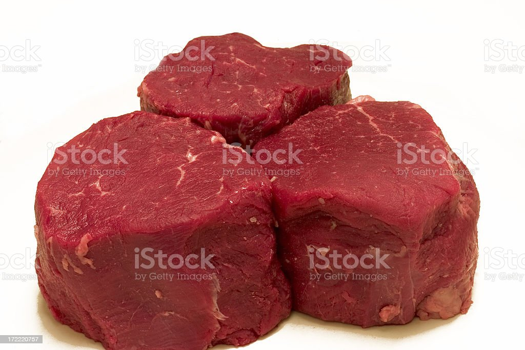Filet Mignon Raw royalty-free stock photo