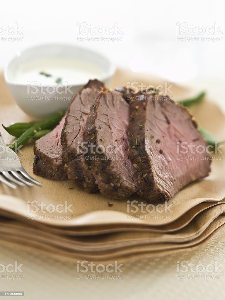 filet mignon slices on royalty-free stock photo