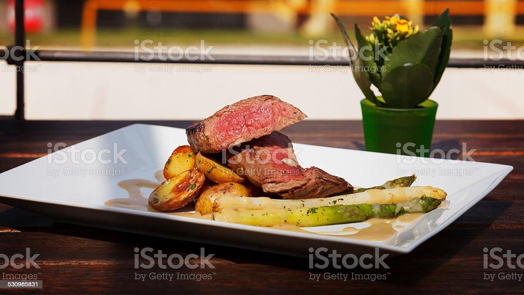 Filet Mignon Steak stock photo