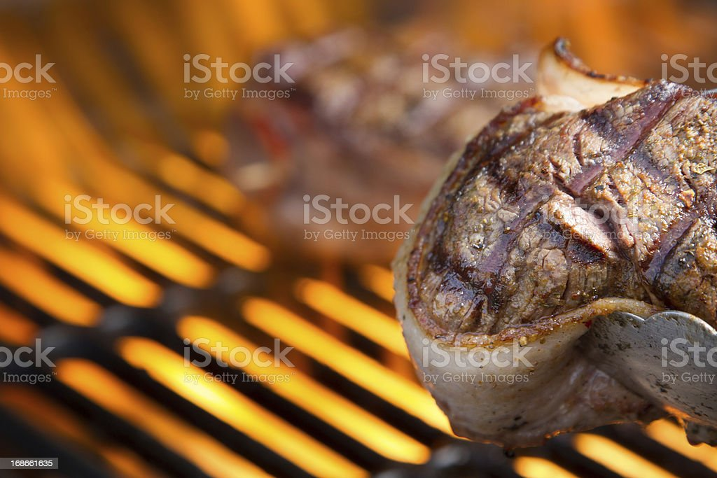Filet Mignon with Fire royalty-free stock photo
