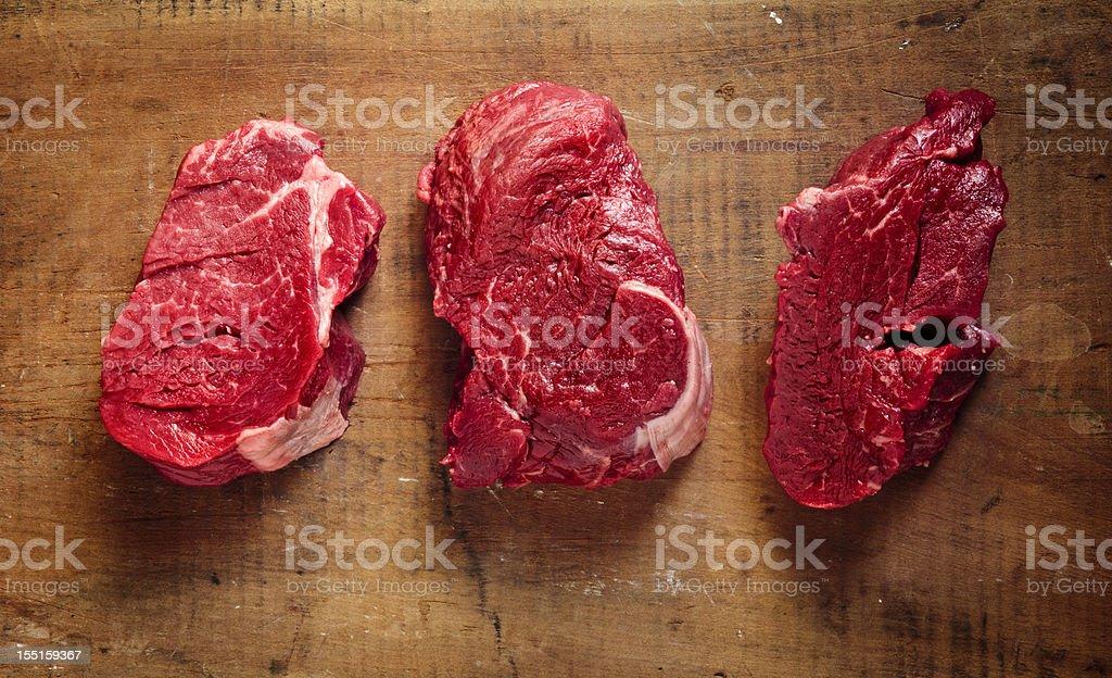 3 filet mignons stock photo