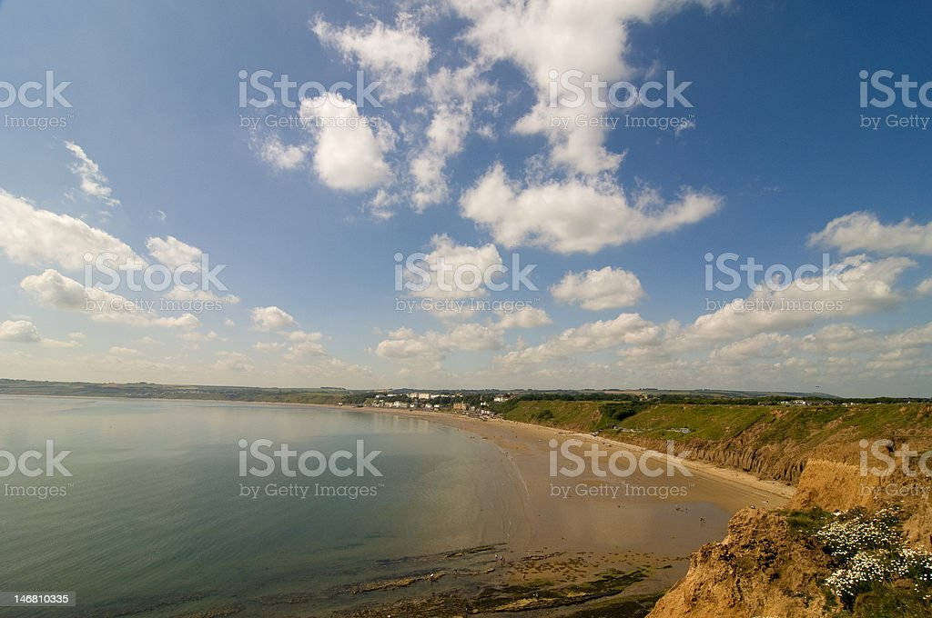 Filey Bay royalty-free stock photo
