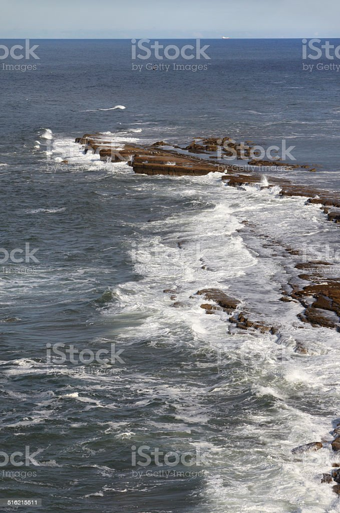 Filey Brigg, North Yorkshire, England stock photo