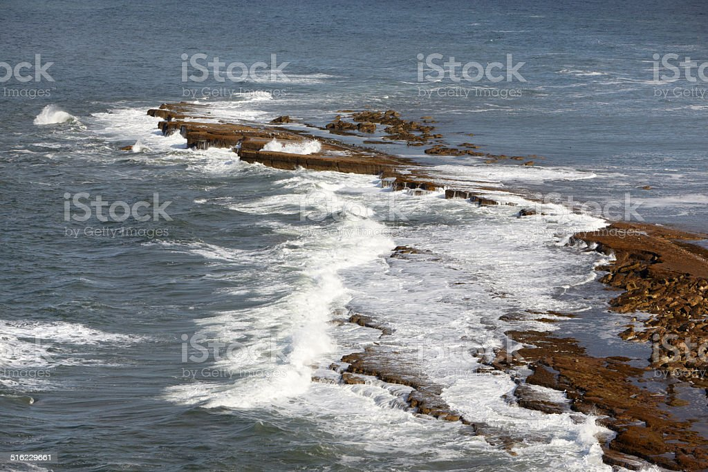 Filey Brigg, North Yorkshire, England, UK. stock photo