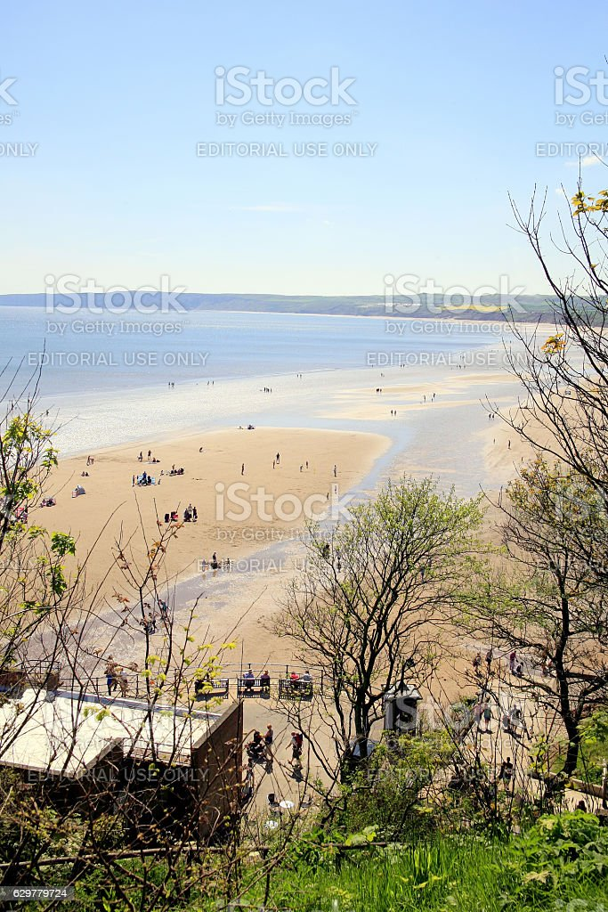 Filey, Yorkshire. stock photo