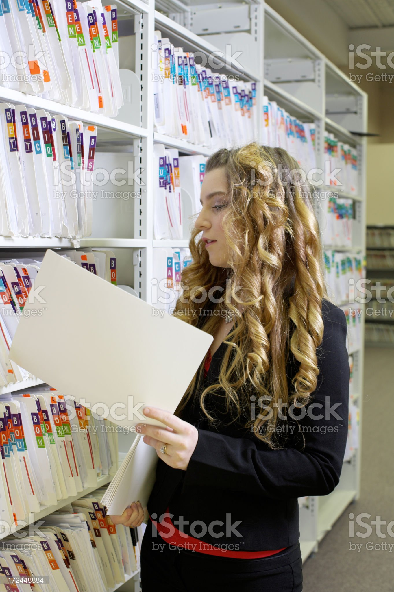 Filing at the office royalty-free stock photo