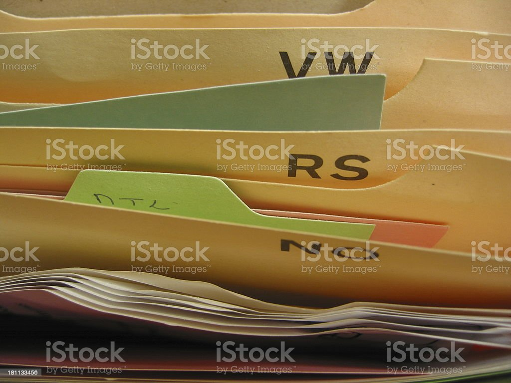 Filing - B royalty-free stock photo