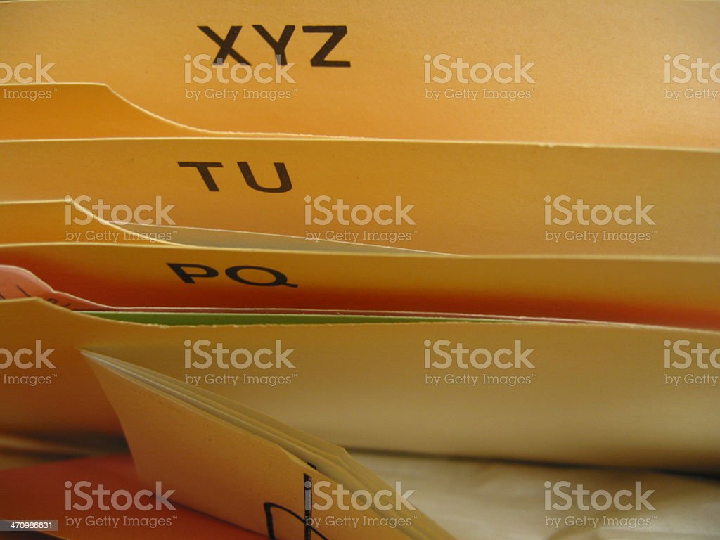 Filing - C royalty-free stock photo