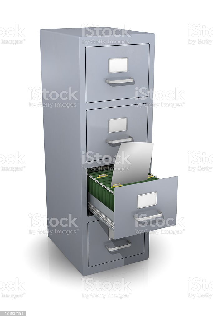 Filing Cabinet royalty-free stock photo