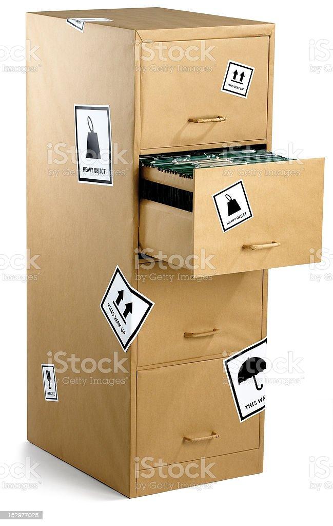 Aktenschrank verpackt in Packpapier Mit clipping path Lizenzfreies stock-foto