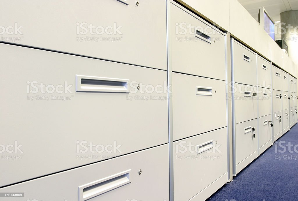 Filing cabinets royalty-free stock photo
